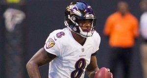 Lamar Jackson, Ravens QB, December 2, 2018 vs Falcons